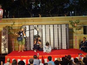 「東京ウエストサイド物語」。芸者に扮した羽田美智子さん撮影風景