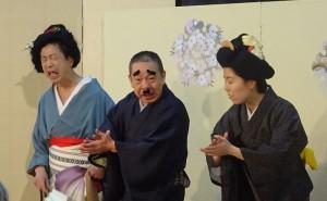 左から、玉八師匠、米七師匠、七太郎さん